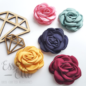 Winter Rose - Hair Clip