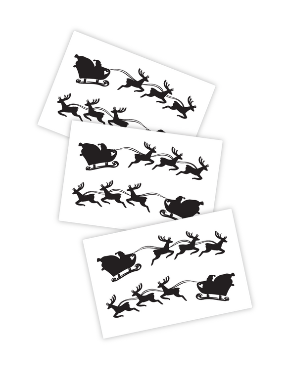 Christmas Sleigh - Temporary Tattoos
