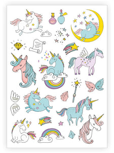 Unicorns - Temporary Tattoos