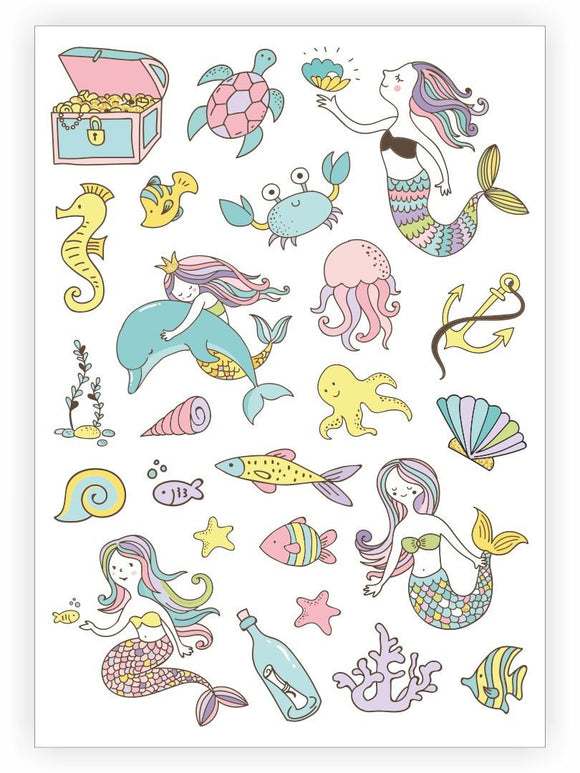 Under the Sea - Temporary Tattoos