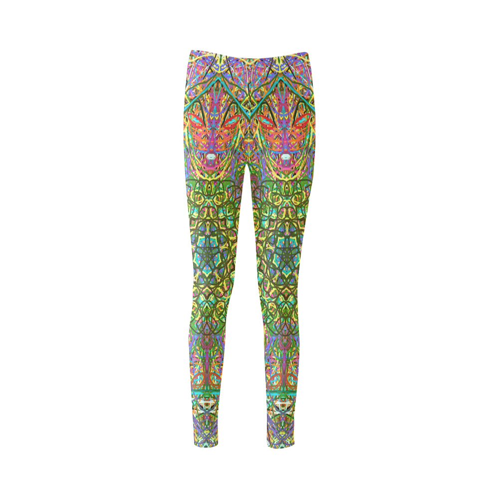 Thleudron Women's Mangshan Cassandra Women's Leggings (Model L01) - Thleudron
