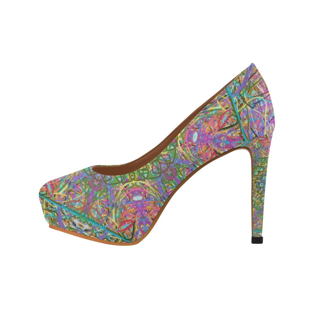 Thleudron Women's Mangshan Women's High Heels (Model 044) - Thleudron