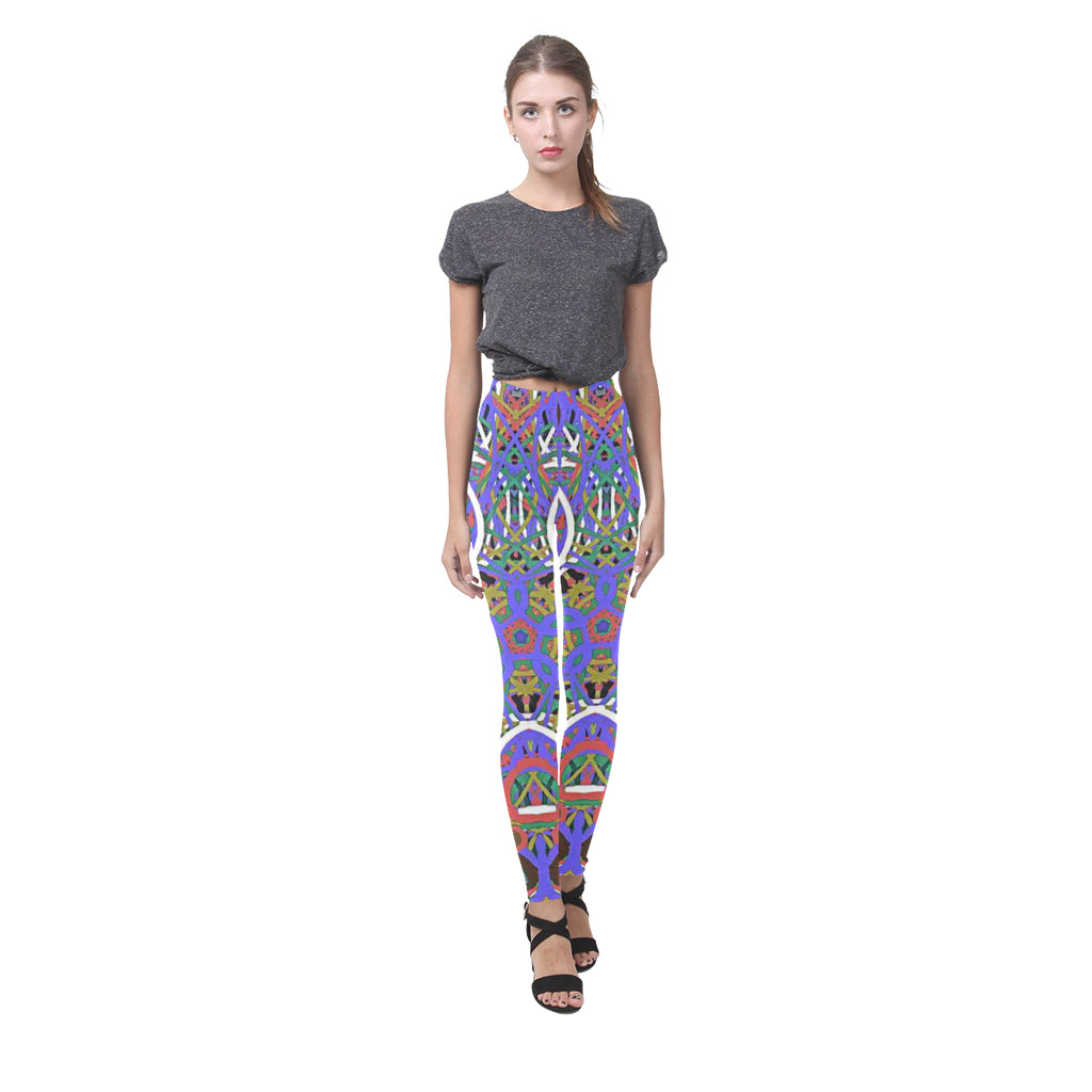 Thleudron Women's Happy Cassandra Women's Leggings (Model L01)