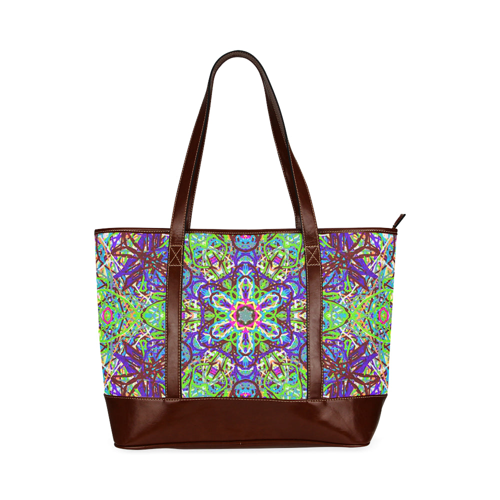 "Sacred Geometry ""Amazon"" by MAR from Thleudron Tote Handbag (Model 1642)"