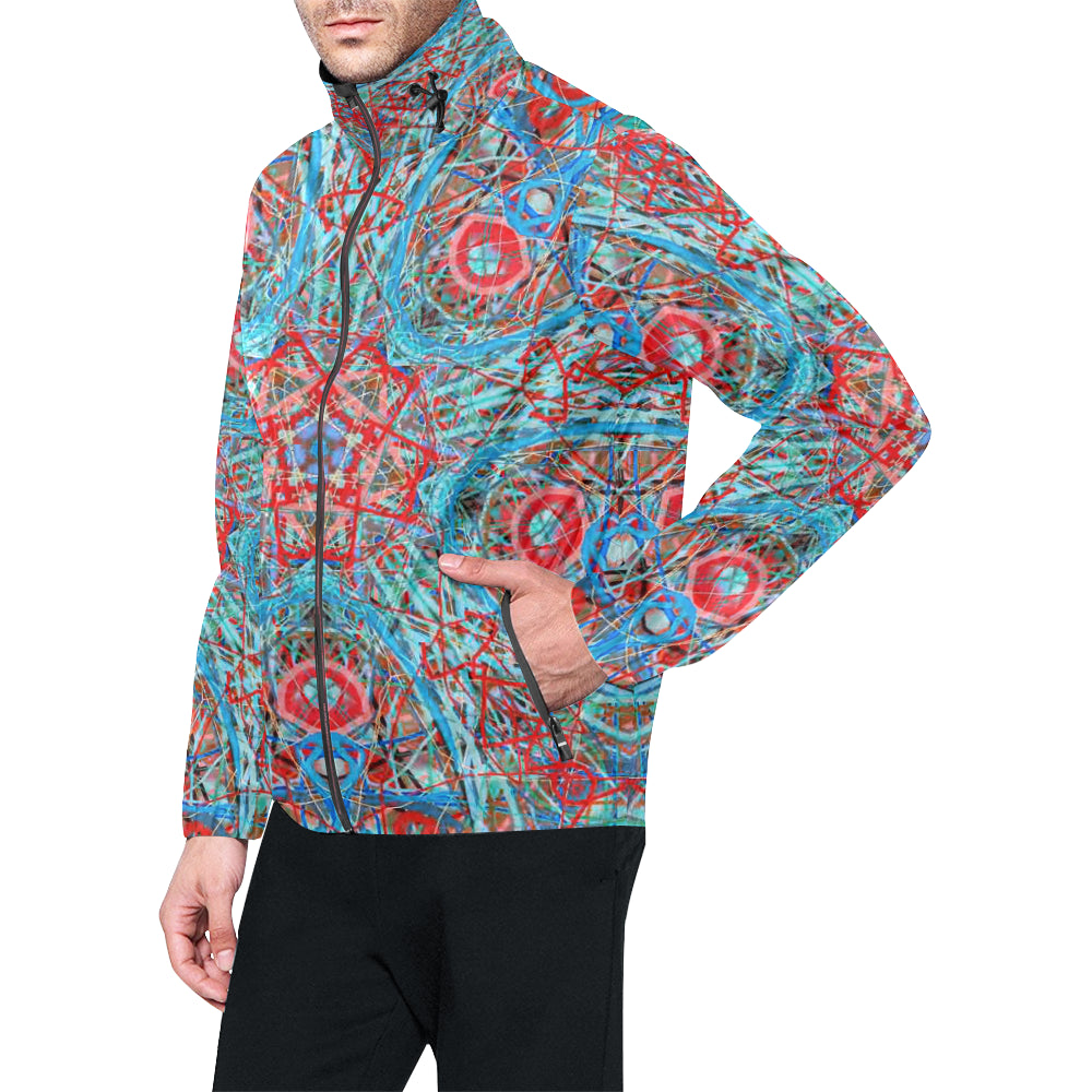 Thleudron Timeless All Over Print Windbreaker for Men (Model H23) - Thleudron