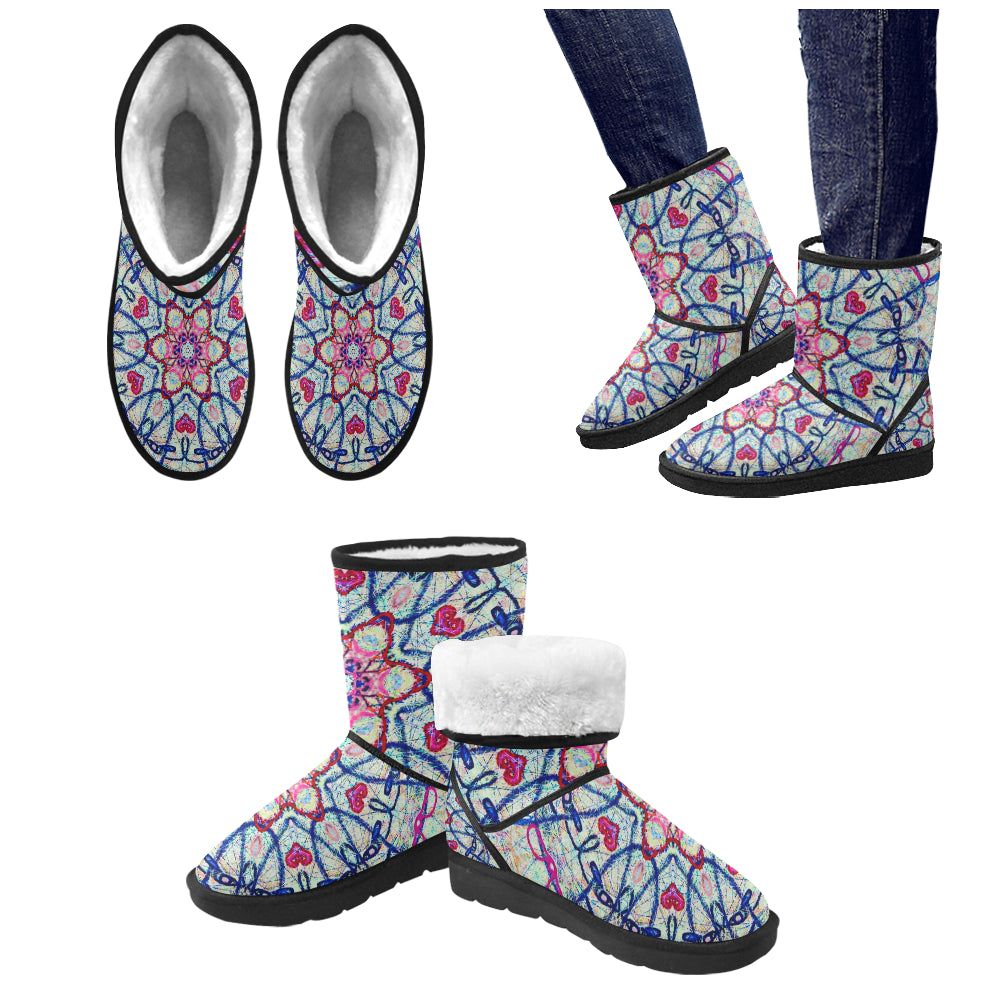Thleudron Aphrodite Custom High Top Unisex Snow Boots (Model 047)