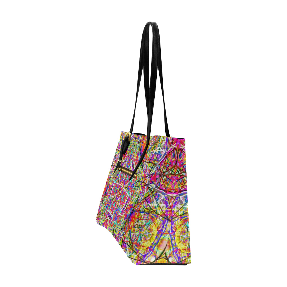 Thleudron Women's Wind Power Euramerican Tote Bag/Large (Model 1656) - Thleudron
