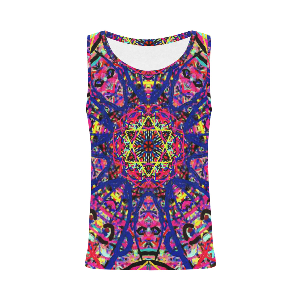 Thleudron Women's David All Over Print Tank Top for Women (Model T43)
