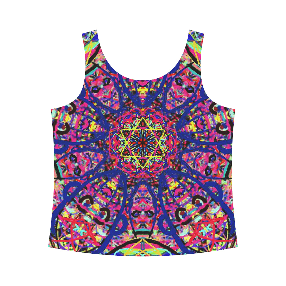 Thleudron Women's David All Over Print Tank Top for Women (Model T43) - Thleudron