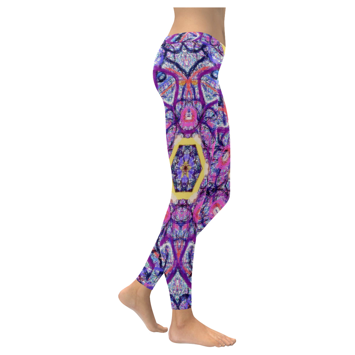 Thleudron Royalty New Low Rise Leggings (Flatlock Stitch) (Model L07) - Thleudron