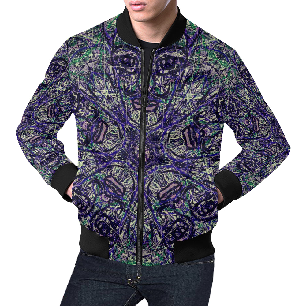 Thleudron Ibis All Over Print Bomber Jacket for Men (Model H19)