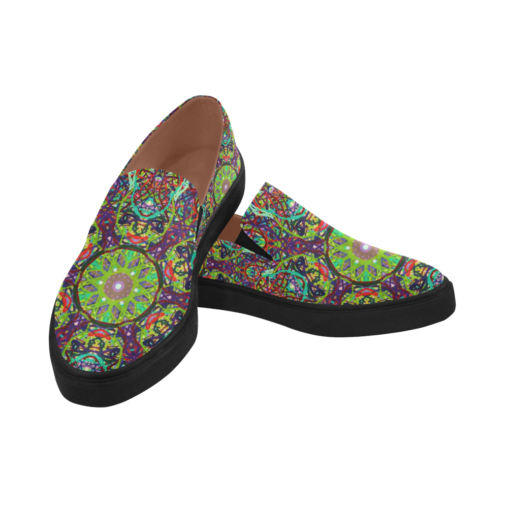 Thleudron Women's Turtles Posidon Pointed Toe Slip-on Women's Shoes(Model 809) - Thleudron