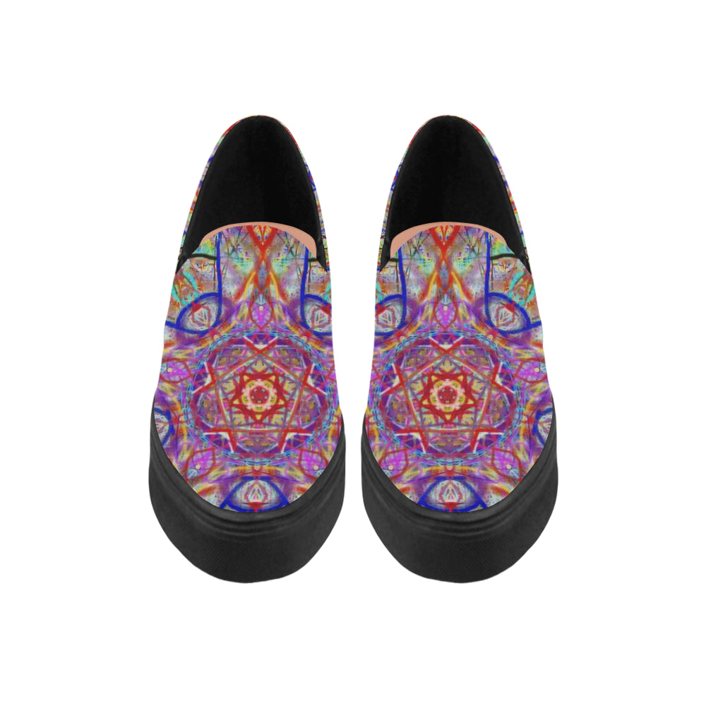 Thleudron Women's Whimsical Naiad Canvas Shoes  Model 1809 - Thleudron