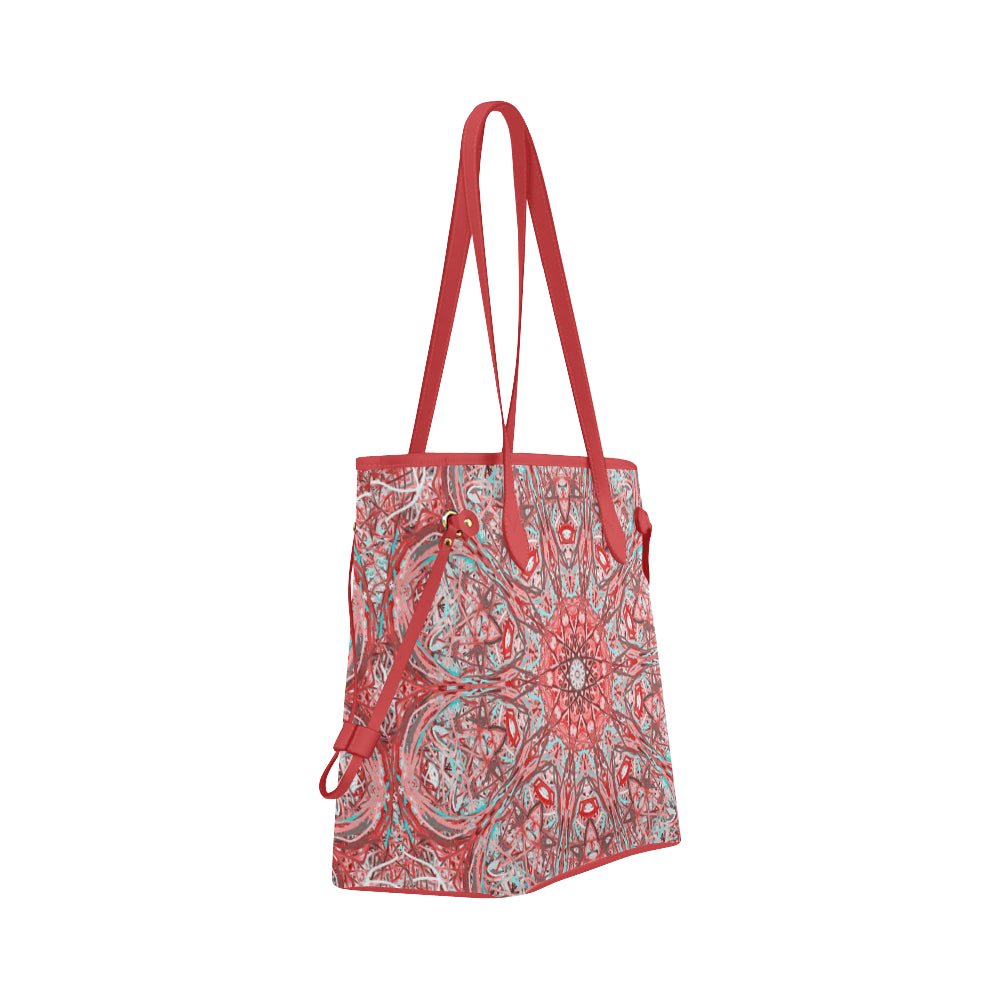 Thleudron Criolla Clover Canvas Tote Bag (Model 1661) - Thleudron