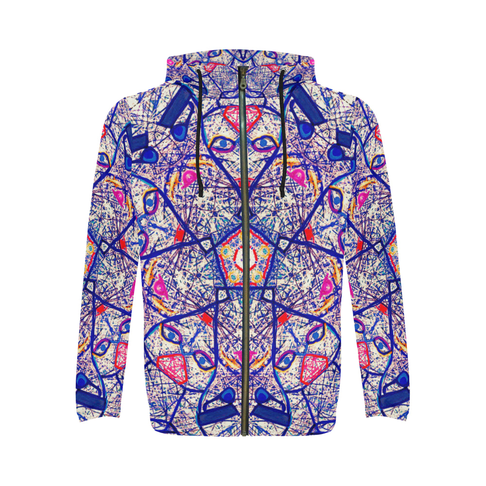 Thleudron Lovers All Over Print Full Zip Hoodie for Men (Model H14)