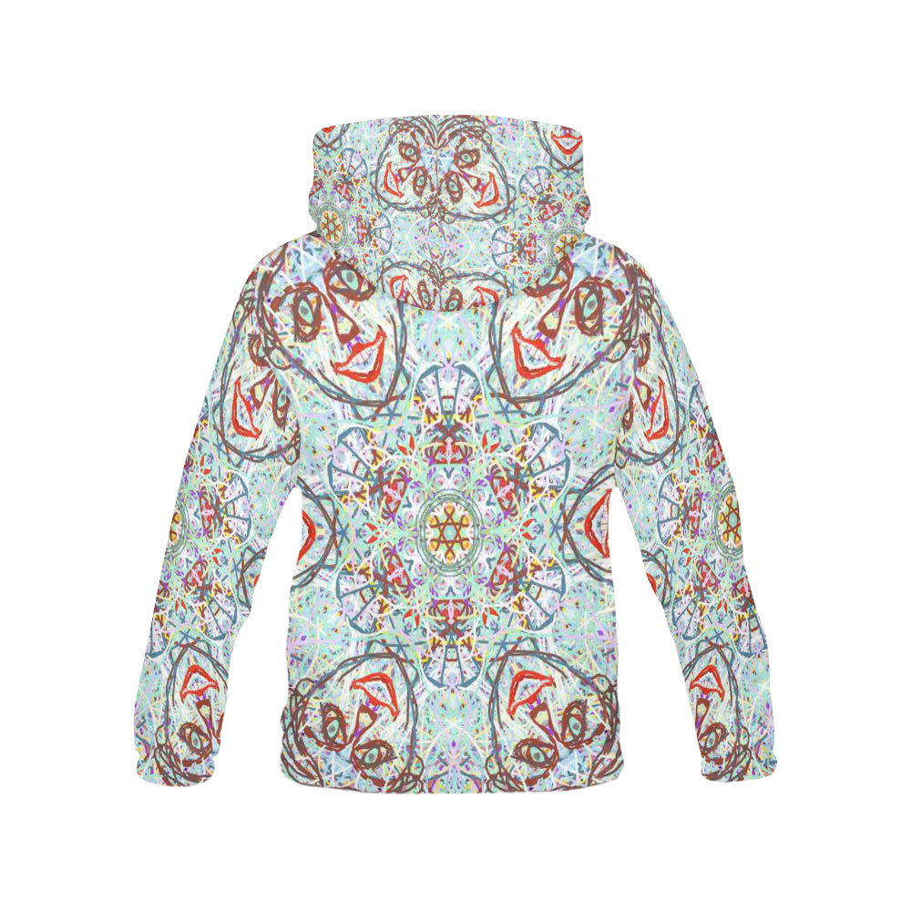 Thleudron Women's Chandelier All Over Print Hoodie for Women (USA Size) (Model H13) - Thleudron