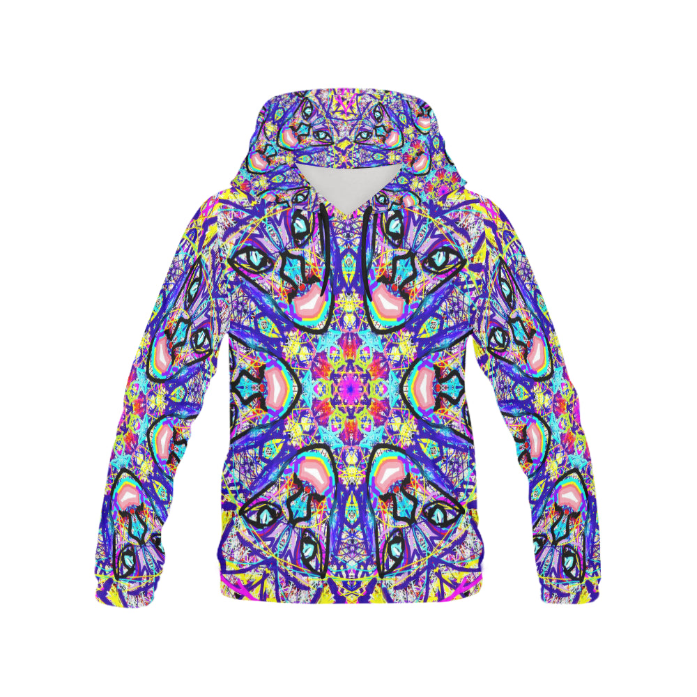 Thleudron Vikings All Over Print Hoodie for Women (USA Size) (Model H13) - Thleudron