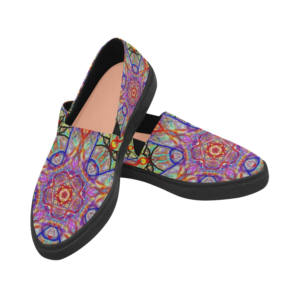 Thleudron Women's Whimsical Naiad Canvas Shoes  Model 1809