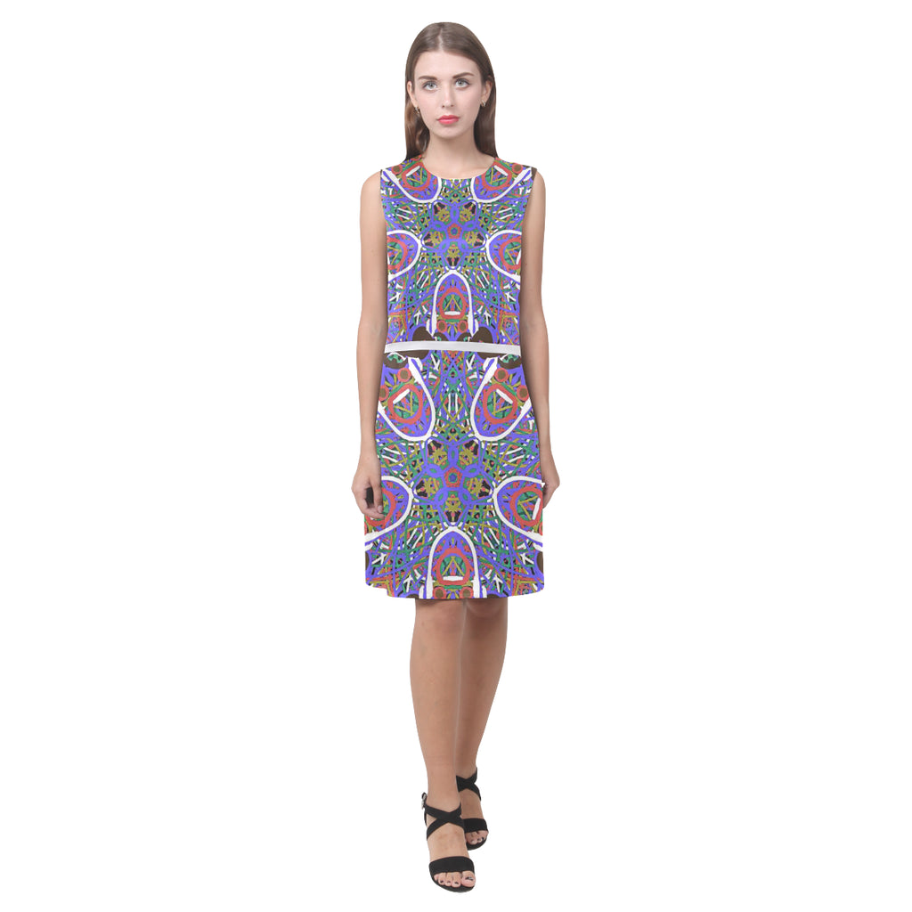 Thleudron Women's Happy Eos Women's Sleeveless Dress (Model D01)