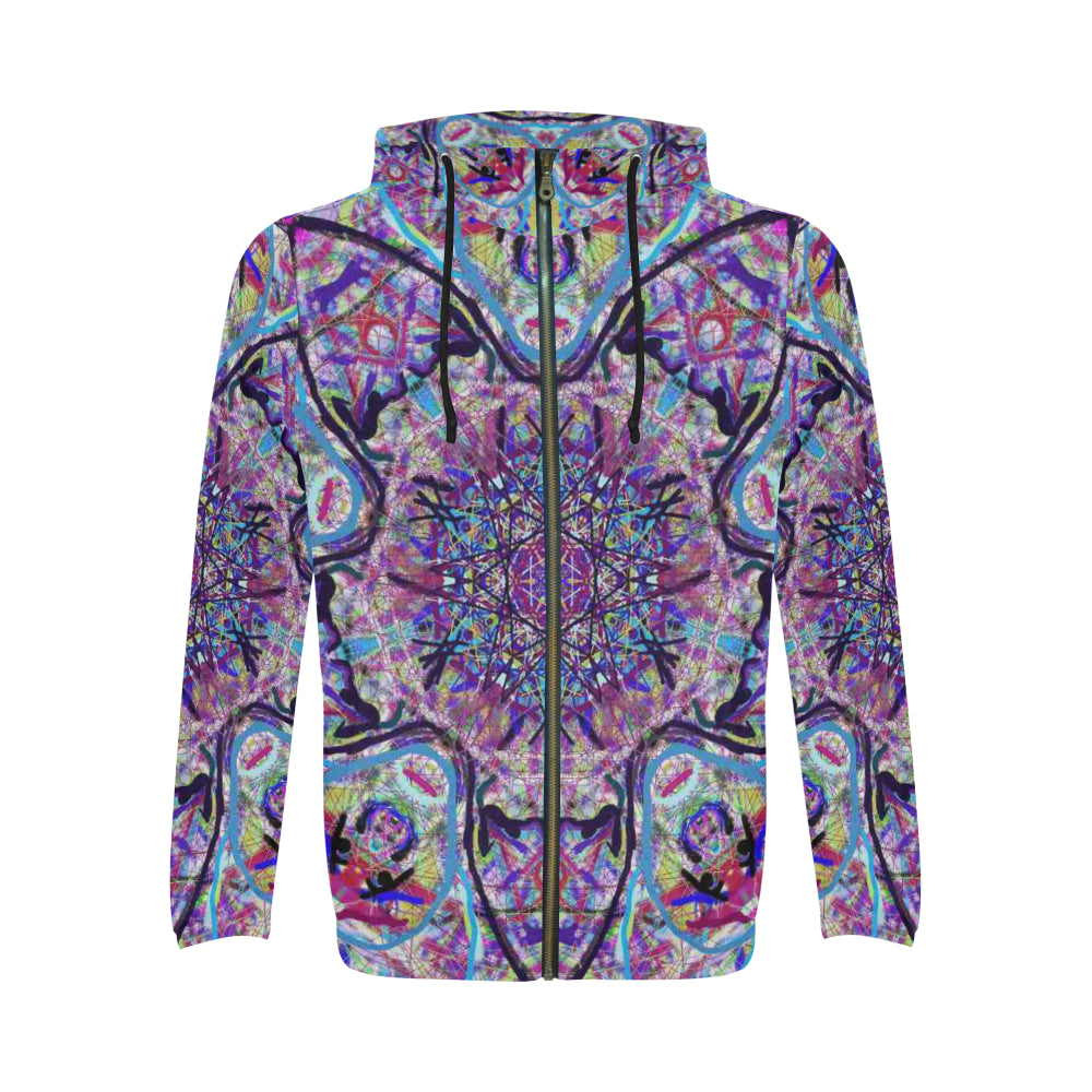 Thleudron  Dream Catcher All Over Print Full Zip Hoodie for Men (Model H14)