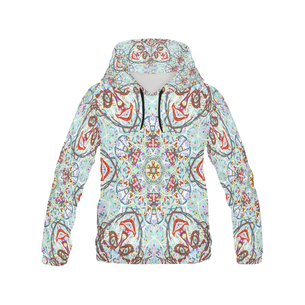 Thleudron Women's Chandelier All Over Print Hoodie for Women (USA Size) (Model H13)