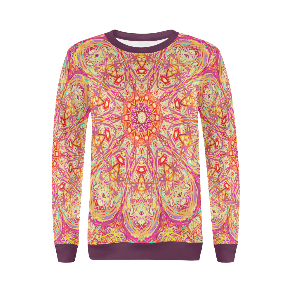 Thleudron Criolla All Over Print Crewneck Sweatshirt for Women (Model H18)