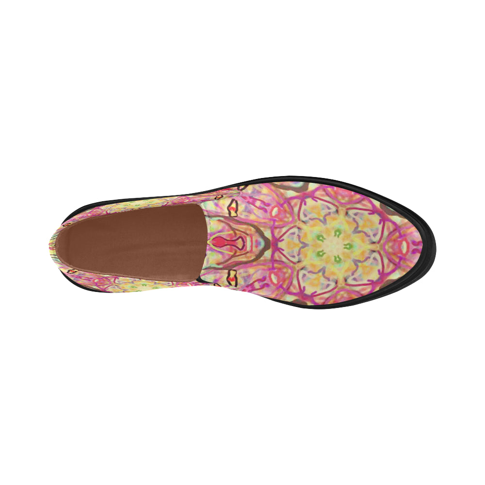 Thleudron Women's Harlequin Posidon Pointed Toe Slip-on Women's Shoes(Model 809) - Thleudron