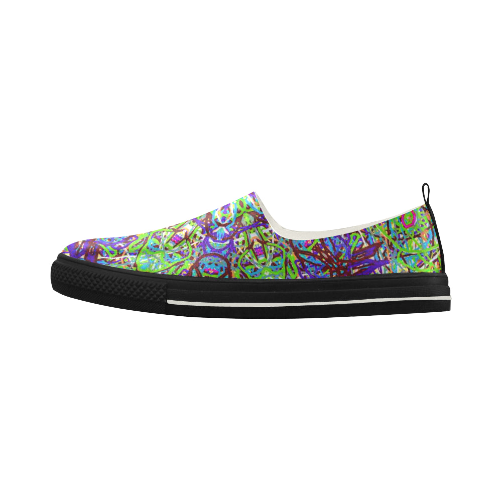 "Sacred Geometry ""Amazon"" by mar From Thleudron Apus Slip-on Microfiber Women's Shoes (Model 021)"