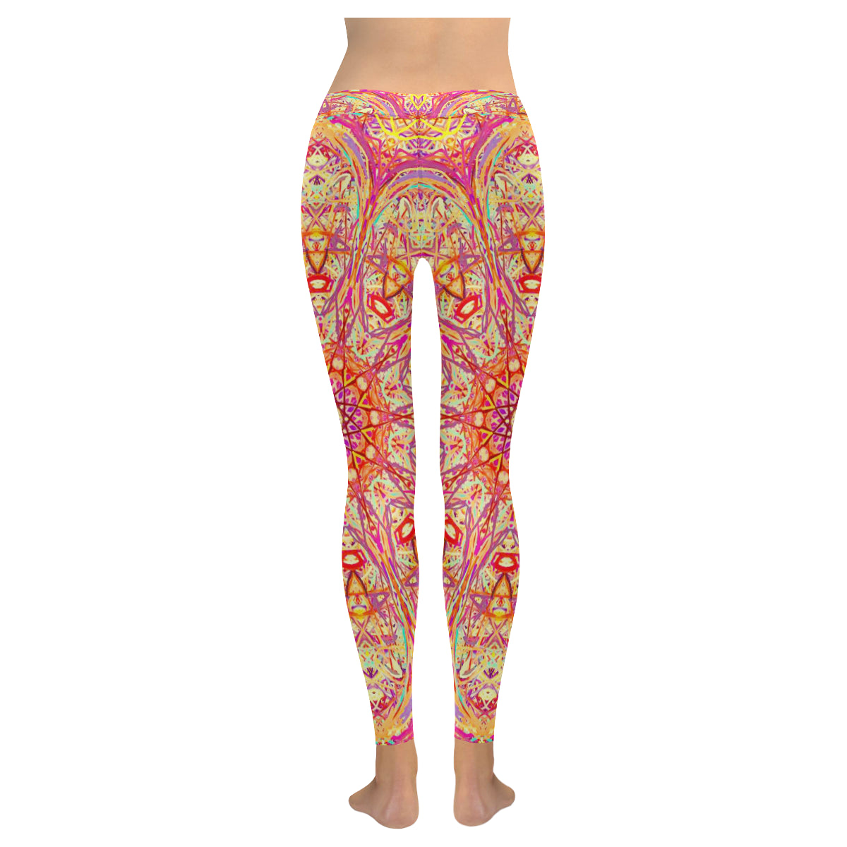 Thleudron Criolla New Low Rise Leggings (Flatlock Stitch) (Model L07) - Thleudron