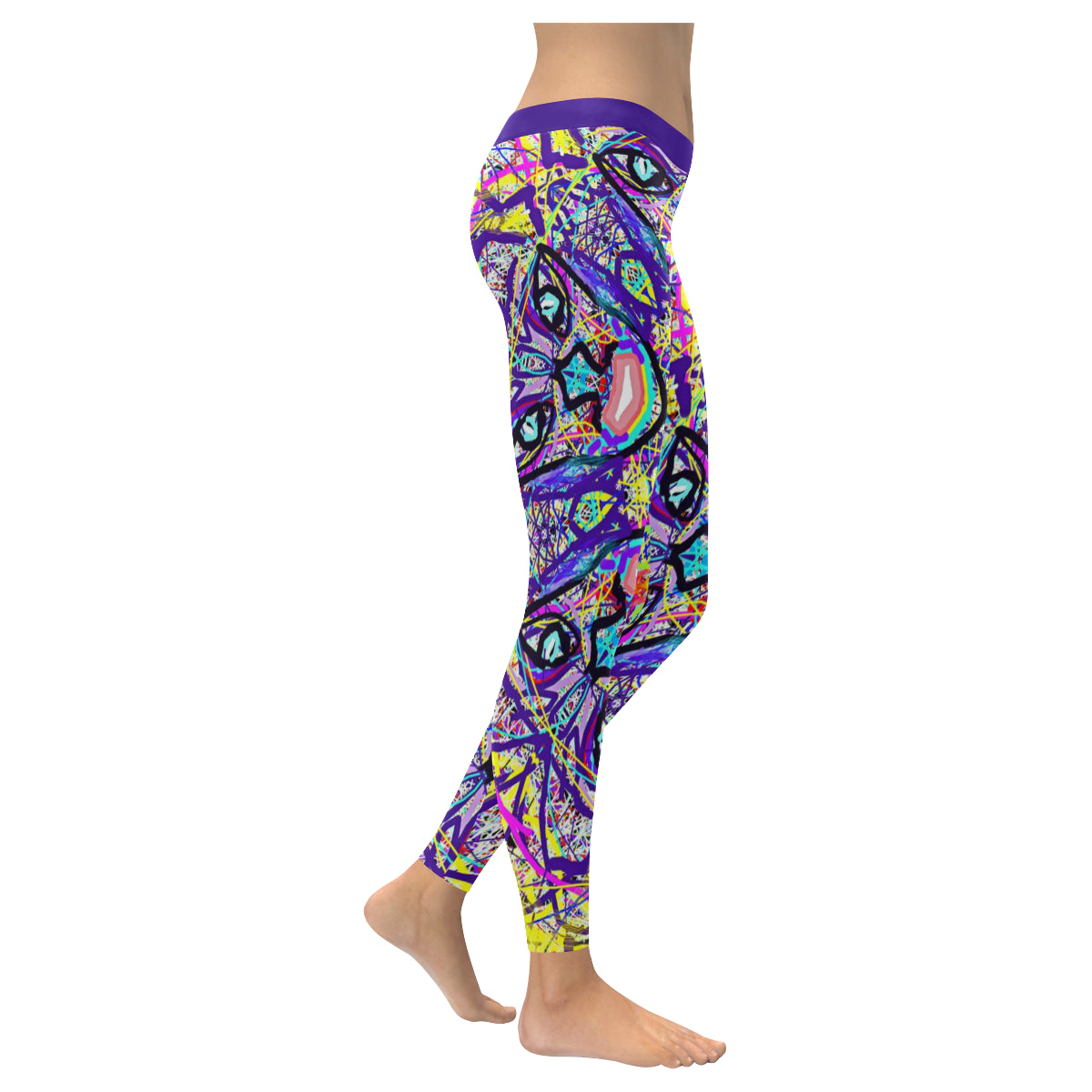 Thleudron Vikings Low Rise Leggings (Invisible Stitch) (Model L05) - Thleudron
