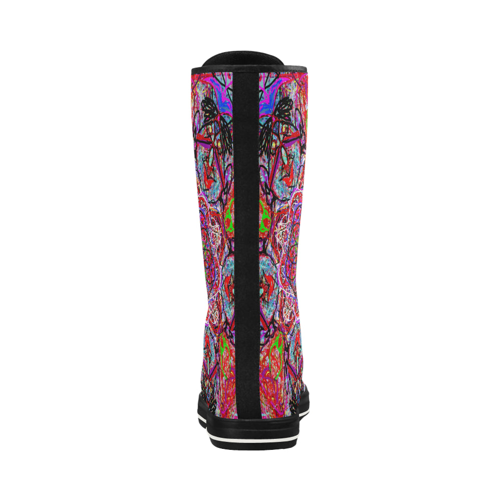 Thleudron Women's The Ring Canvas Long Boots For Women Model 7013H - Thleudron
