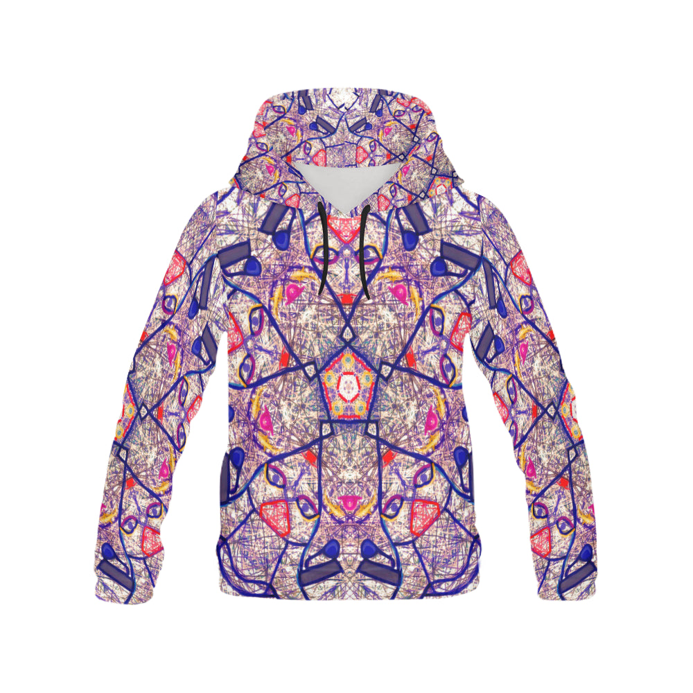 Thleudron Women's Lovers All Over Print Hoodie for Women (USA Size) (Model H13)