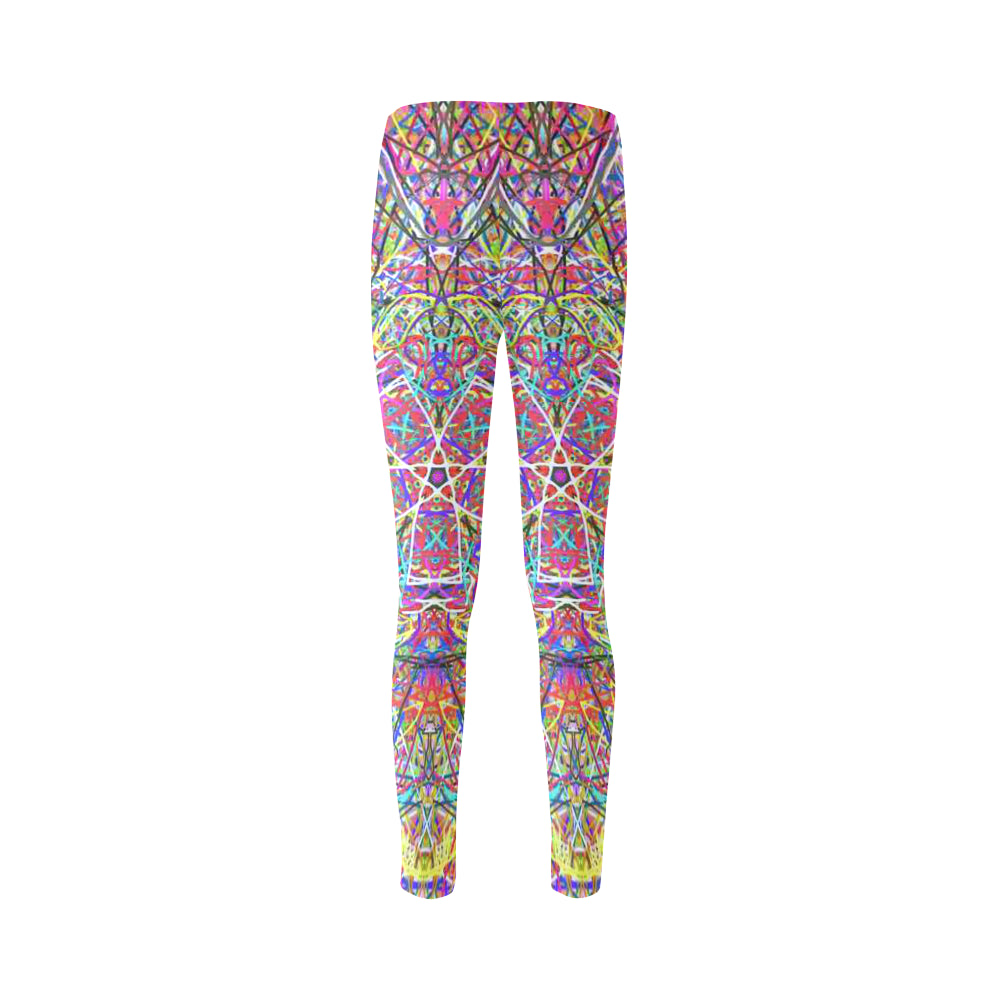 Thleudron Women's Wind Power Cassandra Women's Leggings (Model L01) - Thleudron