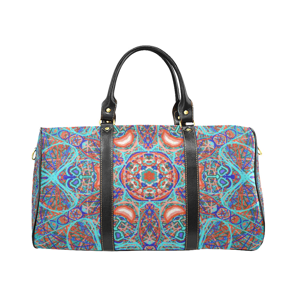 "Sacred Geometry ""Aladin"" By MAR from Thleudron New Waterproof Travel Bag/Small (Model 1639) - Thleudron"