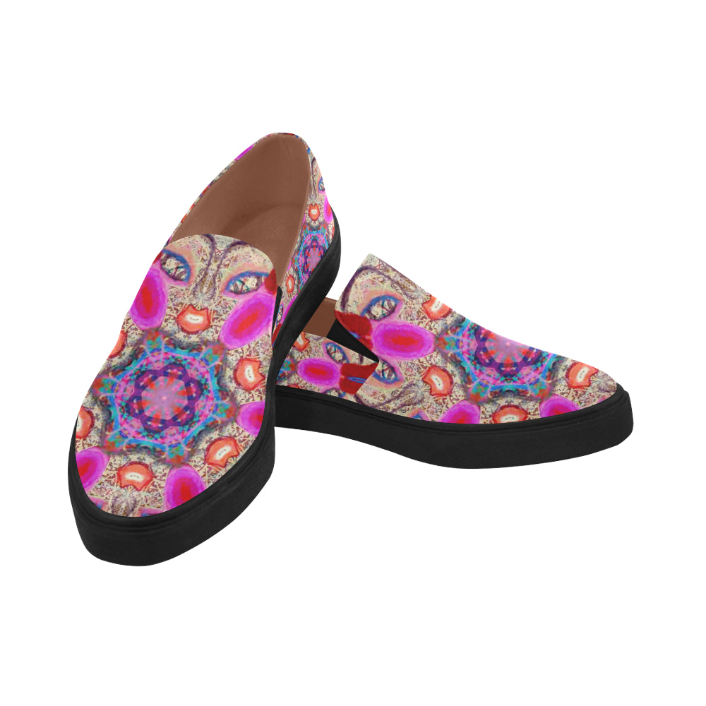Thleudron Women's Maiko Posidon Pointed Toe Slip-on Women's Shoes(Model 809) - Thleudron