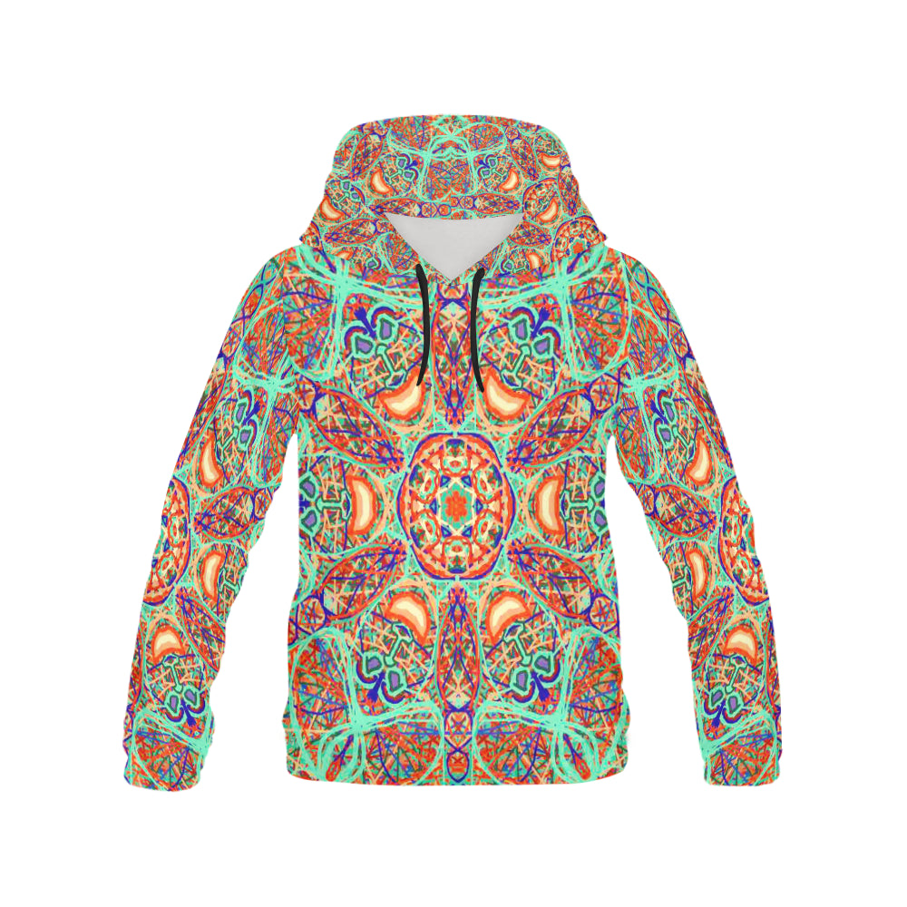 Thleudron Women's Aladin All Over Print Hoodie for Women (USA Size) (Model H13)