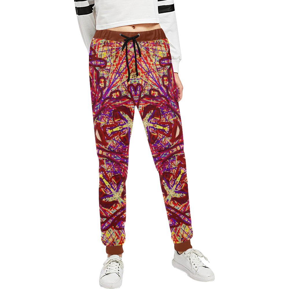 Thleudron Drum Women's All Over Print Sweatpants (Model L11)