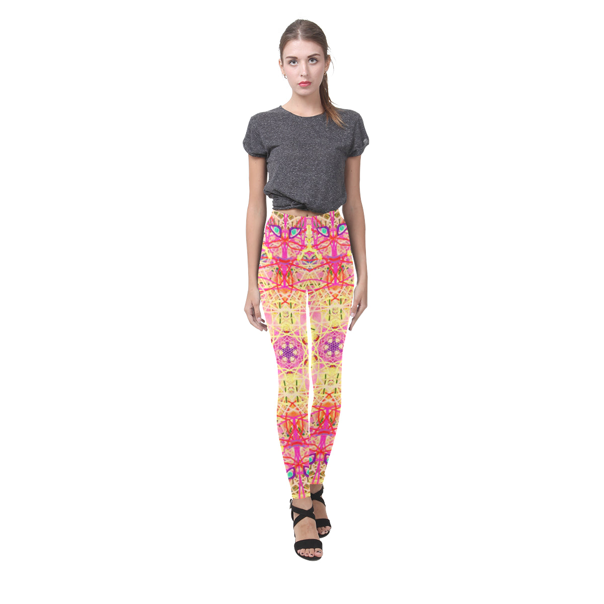 Thleudron Women's Roulette Cassandra Women's Leggings (Model L01) - Thleudron