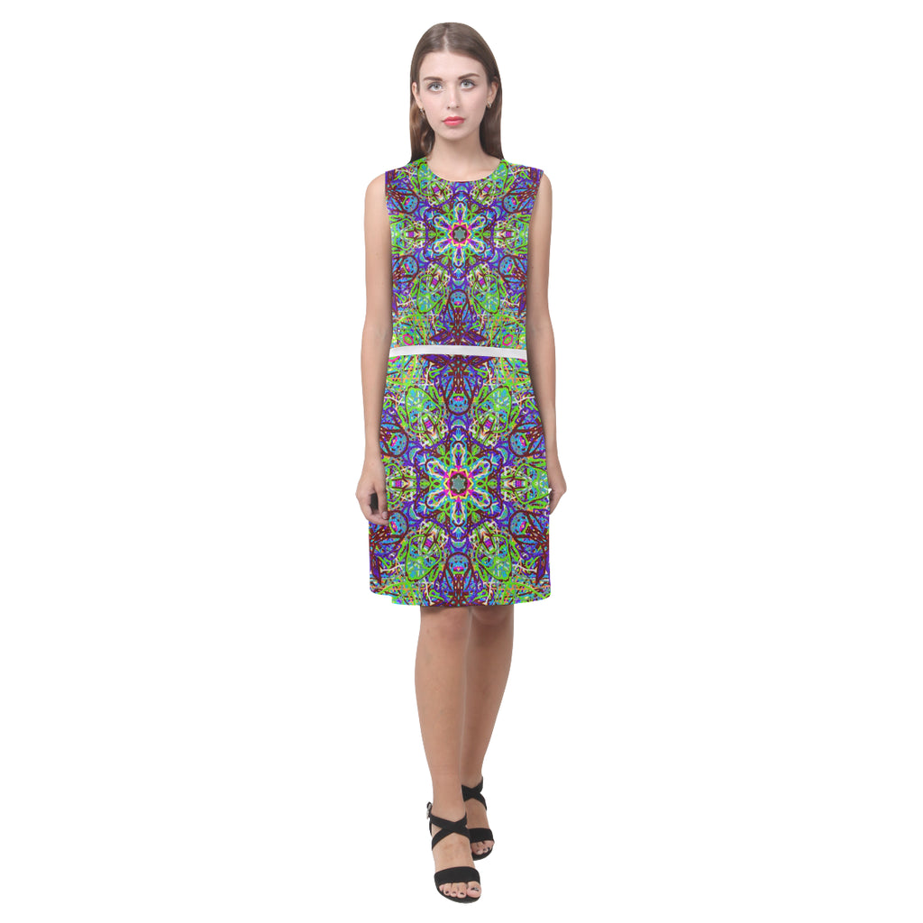 "Sacred Geometry ""Amazon"" by MAR from Thleudron Eos Women's Sleeveless Dress (Model D01)"