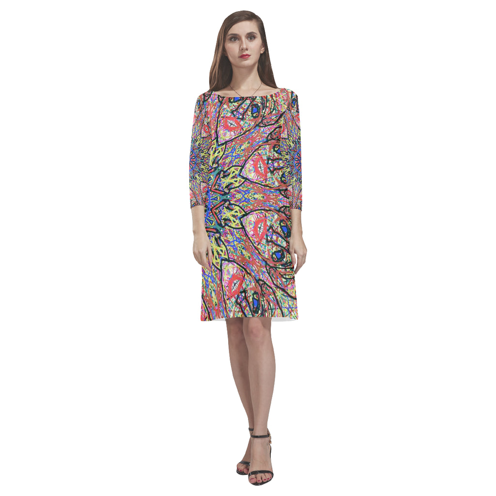 Thleudron Cuco Rhea Loose Round Neck Dress(Model D22)