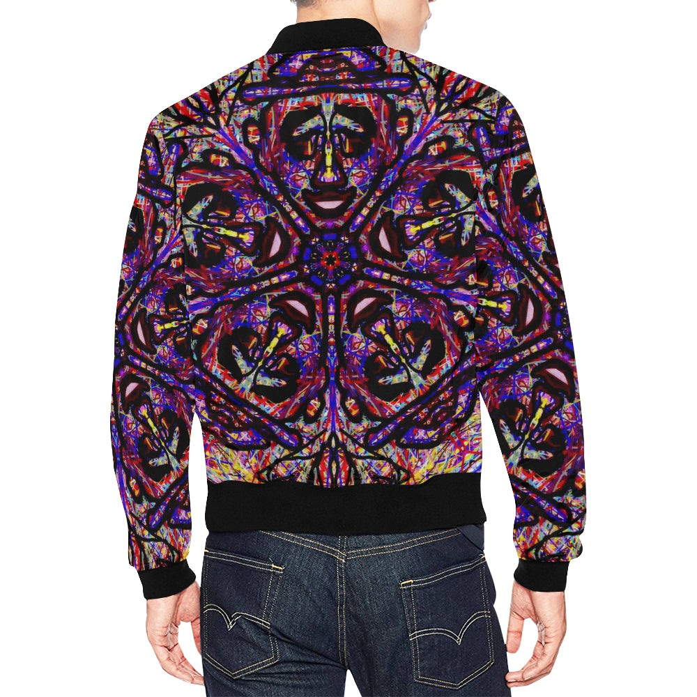Thleudron Drum All Over Print Bomber Jacket for Men (Model H19) - Thleudron