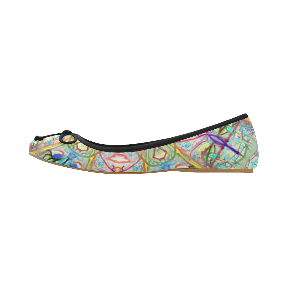 Thleudron Women's Yin Yang Juno Ballet Pumps (Model 312)
