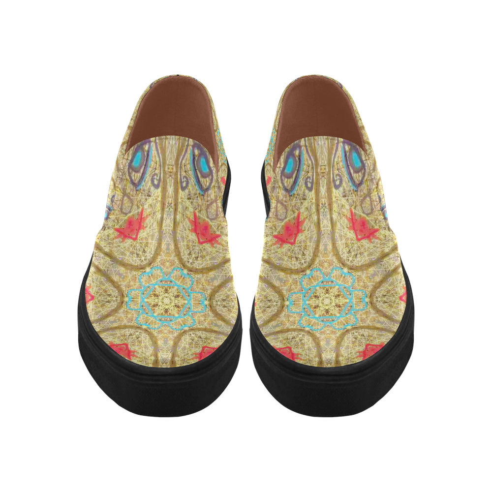 Thleudron Women's Star Posidon Pointed Toe Slip-on Women's Shoes(Model 809) - Thleudron