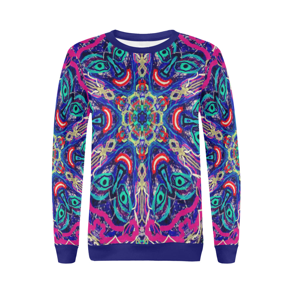 Thleudron Rancher All Over Print Crewneck Sweatshirt for Women (Model H18) - Thleudron