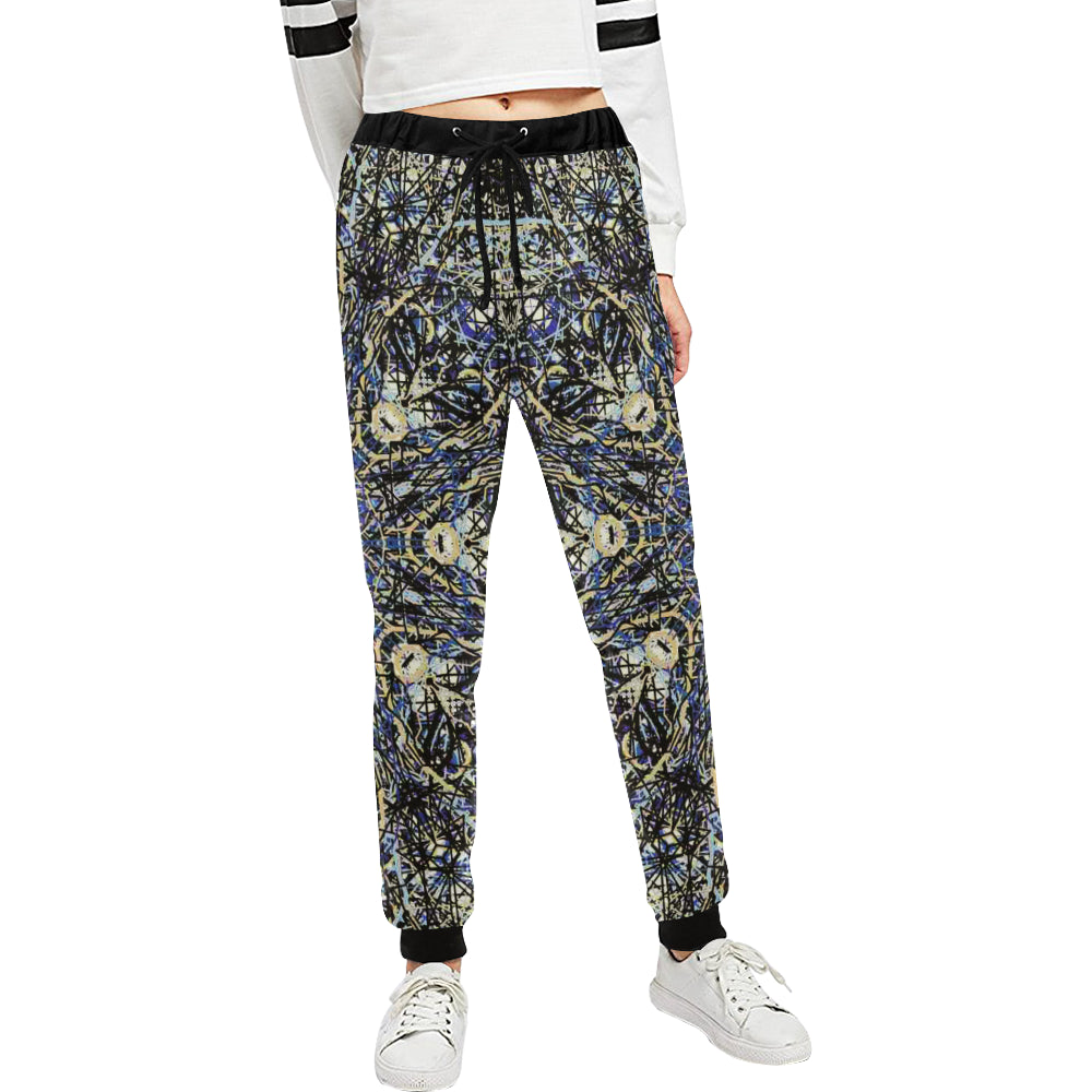 Thleudron Memory Women's All Over Print Sweatpants (Model L11)
