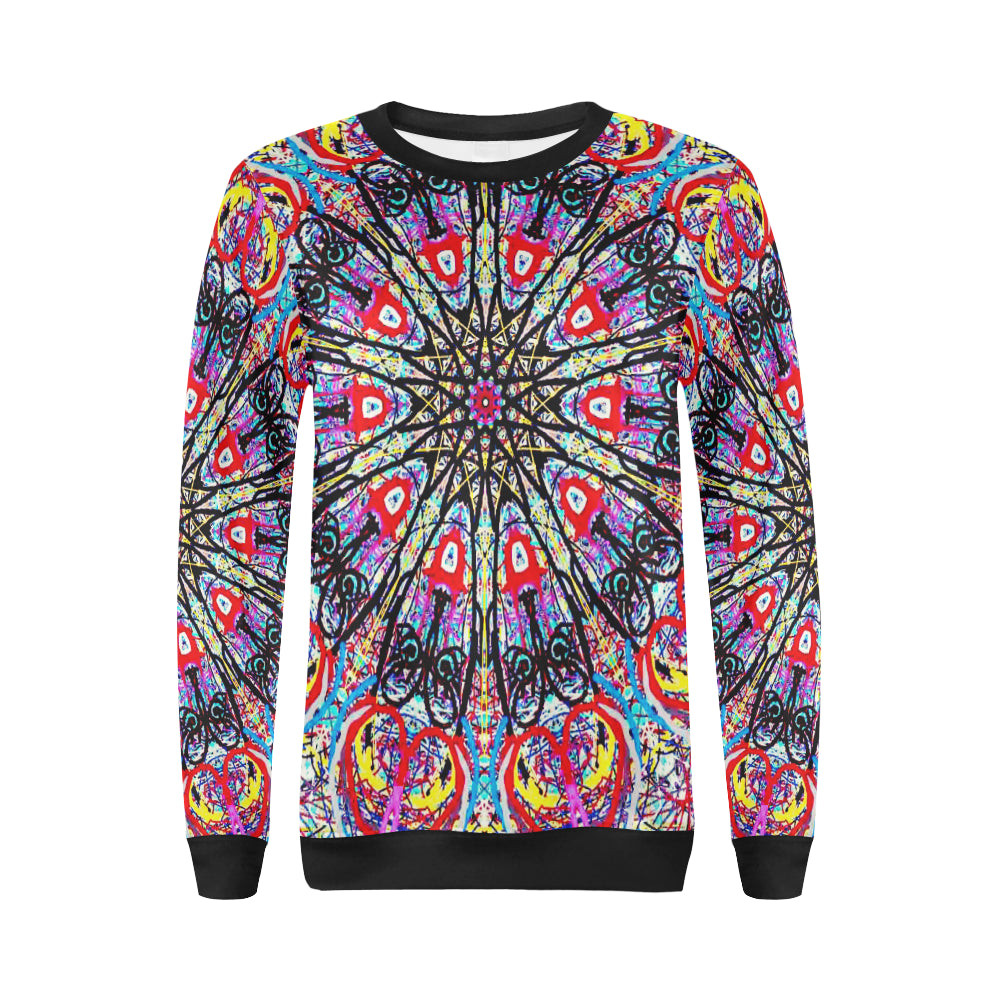 Thleudron Fascinator All Over Print Crewneck Sweatshirt for Women (Model H18) - Thleudron