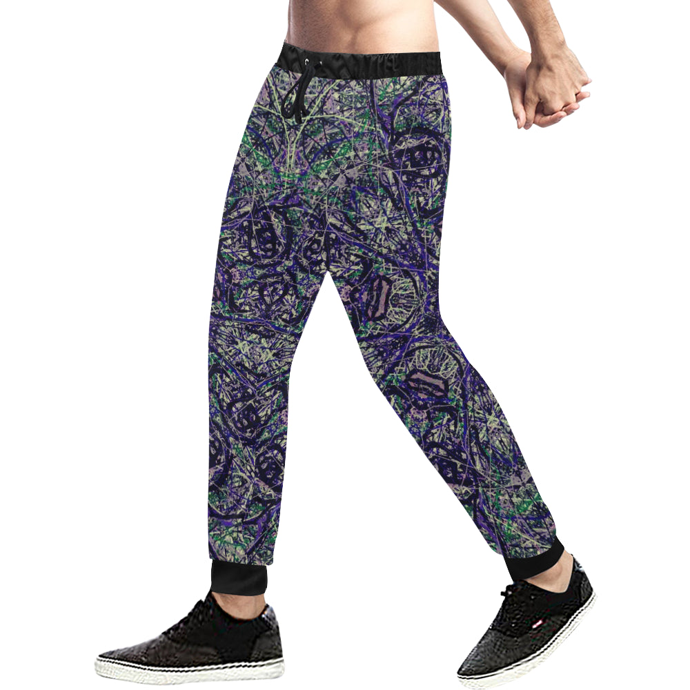 Thleudron Ibis Men's All Over Print Sweatpants (Model L11) - Thleudron