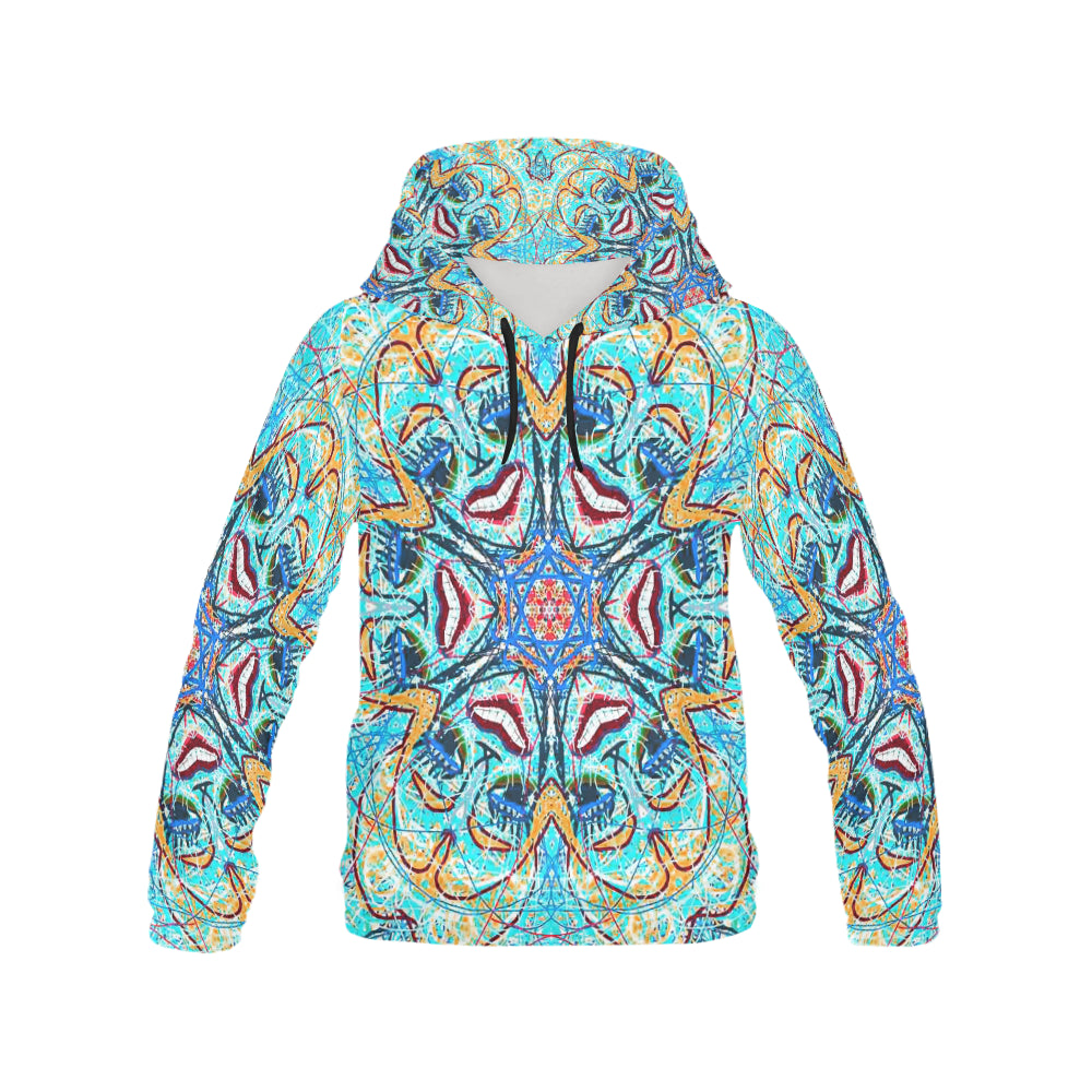 Thleudron Women's Cordelia All Over Print Hoodie for Women (USA Size) (Model H13) - Thleudron
