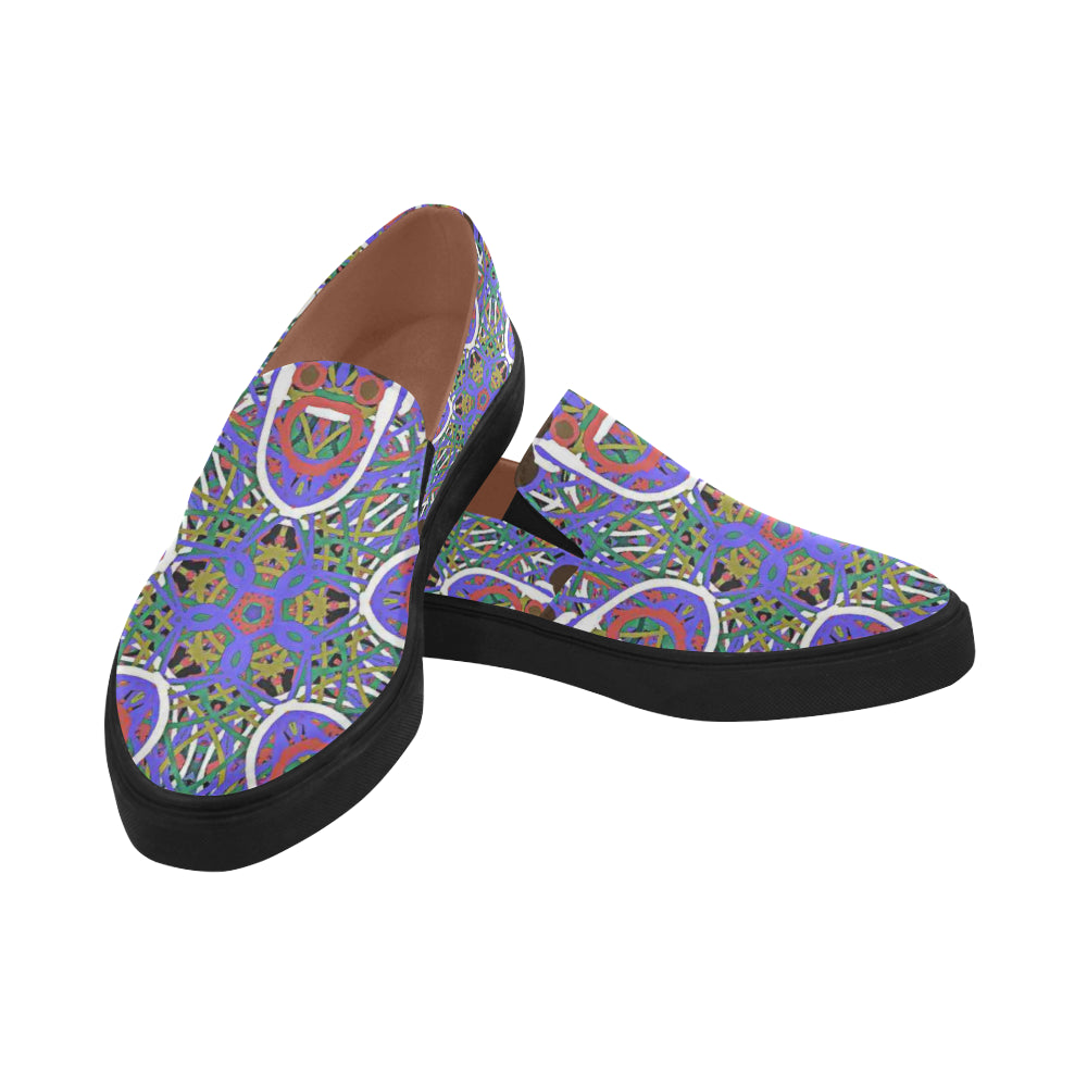 Thleudron Women's Happy Posidon Pointed Toe Slip-on Women's Shoes(Model 809) - Thleudron