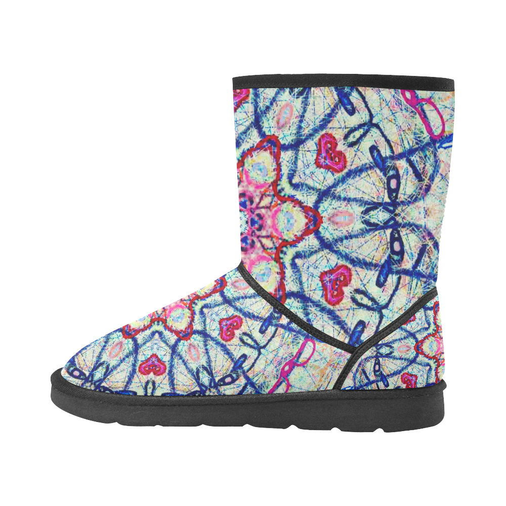 Thleudron Aphrodite Custom High Top Unisex Snow Boots (Model 047) - Thleudron